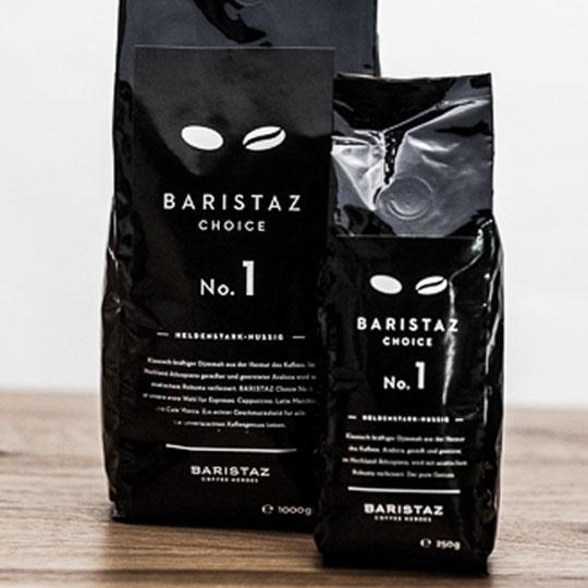 Der Baristaz Choice No. 1 mit 60 Prozent Arabica und 40 Prozent Robusta.