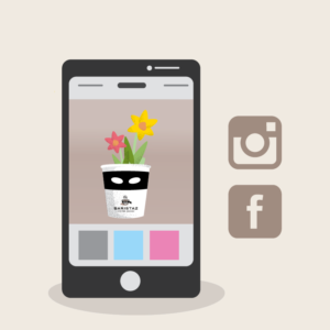 Schick Deine Pflanz-Idee über Facebook oder Instagram an Baristaz