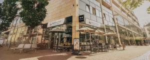 Der Baristaz-Store in Mainz, Römerpassage/Adolf-Kolping-Straße.